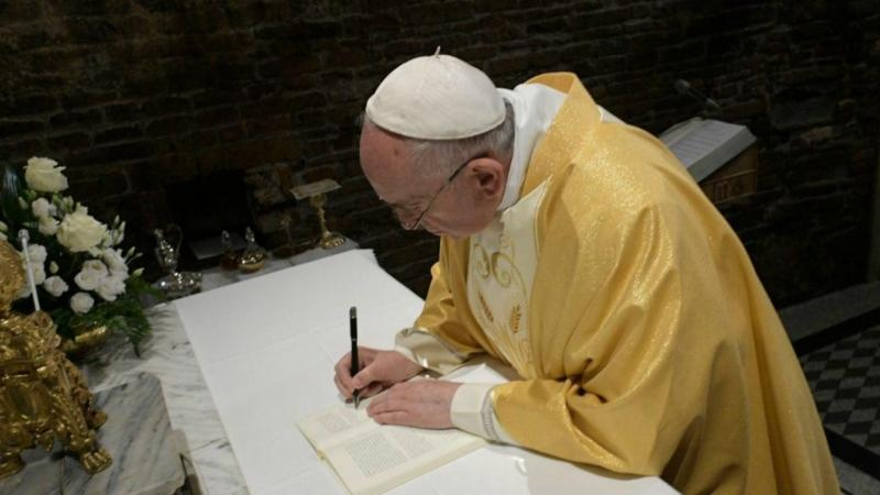"Pope Francis will Sign his Next Encyclical Entitled ""All"