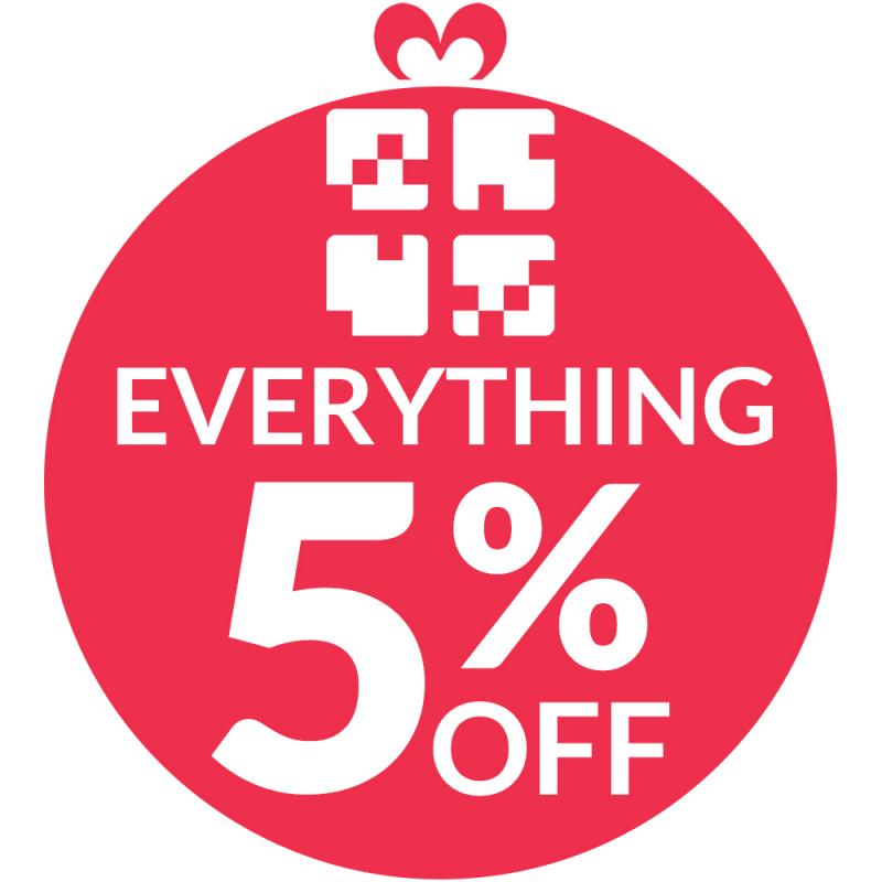 Everything is 5% off from stores you know and trust on Giftapart.