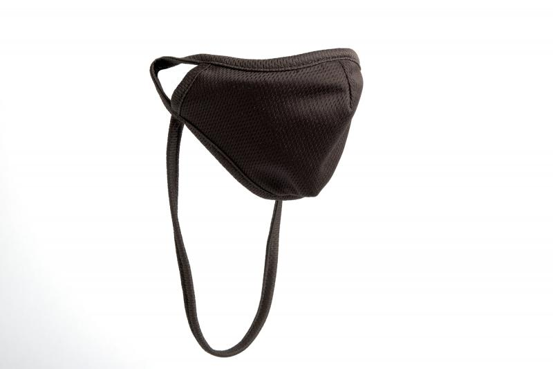 Black Antimicrobial Face Mask with Neck Strap