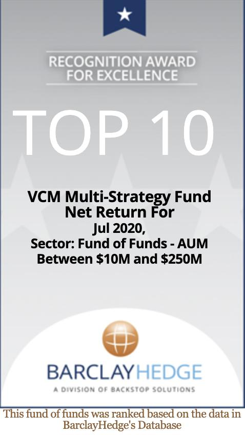 VCM Multi-strategy fund performance wins Top 10 BarclayHedge