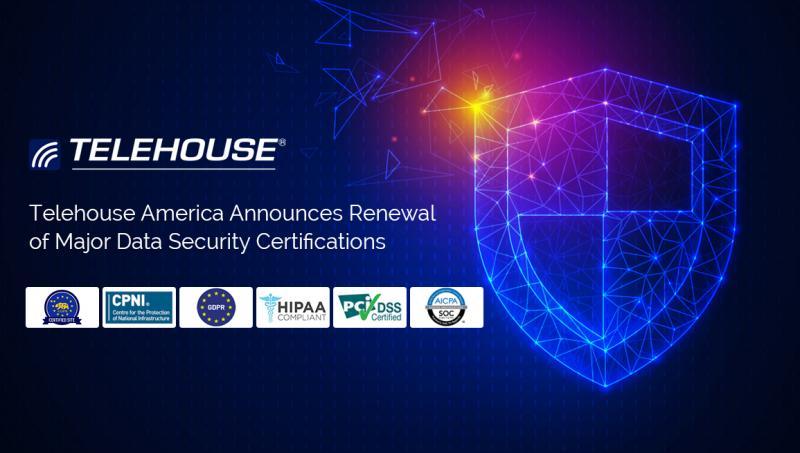Telehouse America Announces Renewal of Major Data Security