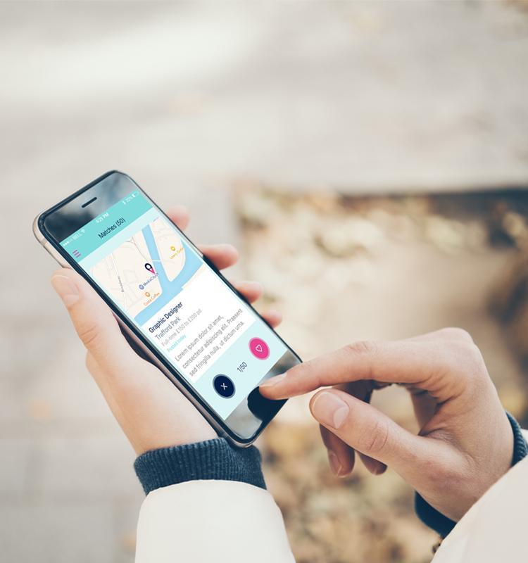 The app allows users to explore jobs on the go.