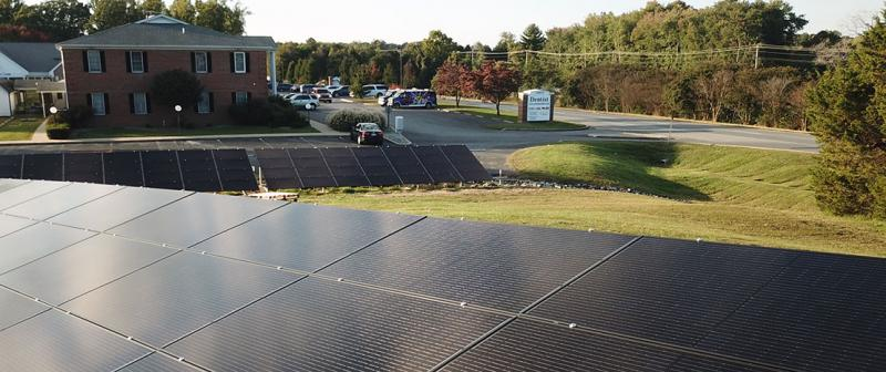 Larger commercial ground mount solar energy system in Mechanicsville, MD