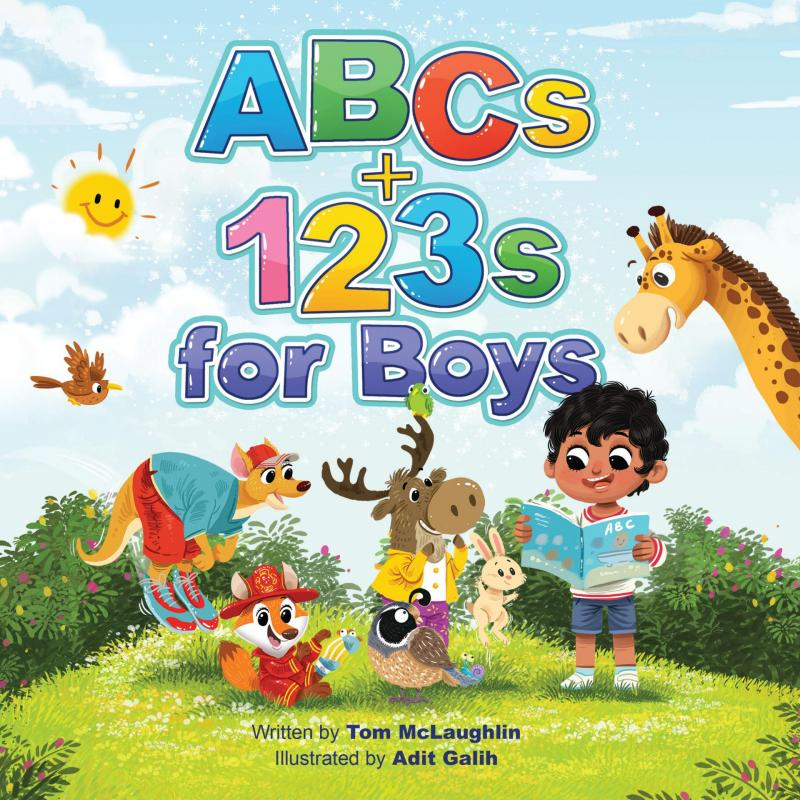 """Pirates, ninjas and dinosaurs! A new, wildly fun ABCs book for preschoolers, """"ABCs and 123s for Boys"""""""