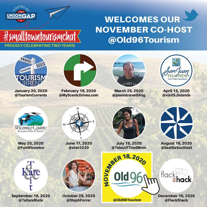 A Full Year of #SmallTownTourismChat Twitter Chat Co-Hosts