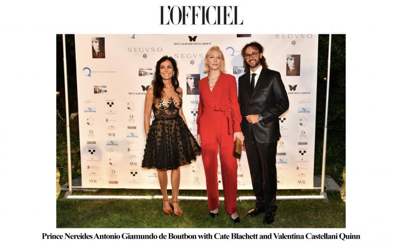 Prince Nereides Antonio Giamundo de Bourbon with Cate Blanchett and Valentina Castellani Quinn at the Bellagraph Nova Group event.