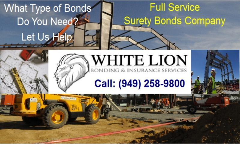 Performance Bonds, Payment Bonds and Bid Bonds Broker
