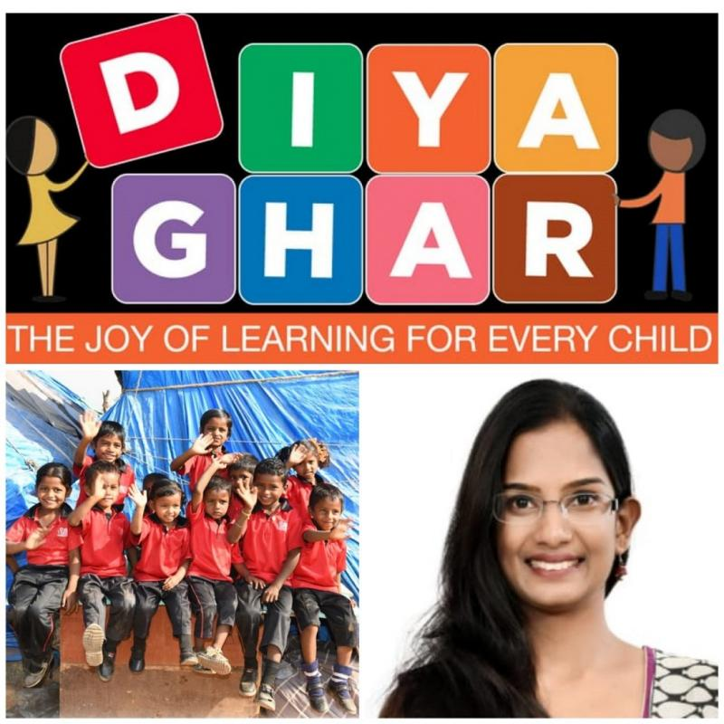 School for Migrant Workers Children DiyaGhar Mission with Passion by BITS Pilani Alumnus Saraswathi Padmanabhan