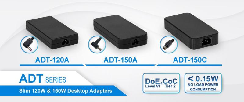120W and 150W AC-DC Desktop Adapters