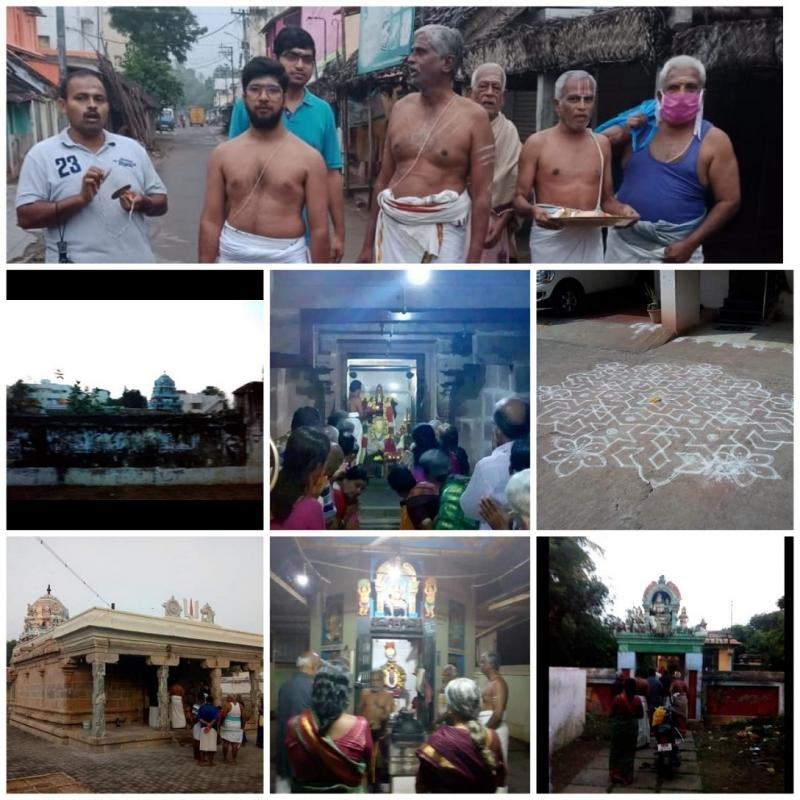 Trimurthi Sthalam Bikshandarkoil Carries 146 years of Veedhi Bhajan Singing Tradition