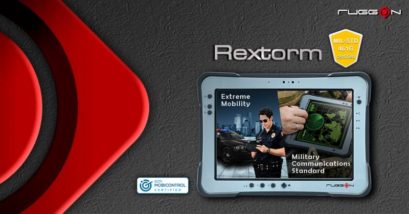 RuggON Rextorm PX501 Windows rugged tablet certified to MIL-STD-461G