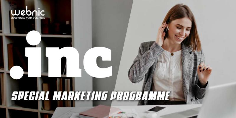 WebNIC Launches New Special Marketing Programme for .INC Domain
