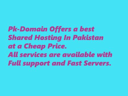 The best Web Hosting and domain Registration Company In Pakistan.