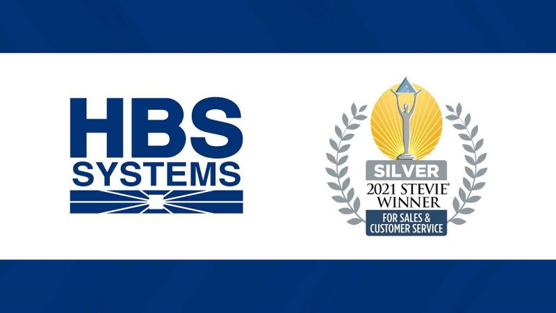HBS Systems Wins Stevie Awards for Sales & Customer Service.