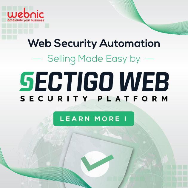 WebNIC launches new web security service, Sectigo Web