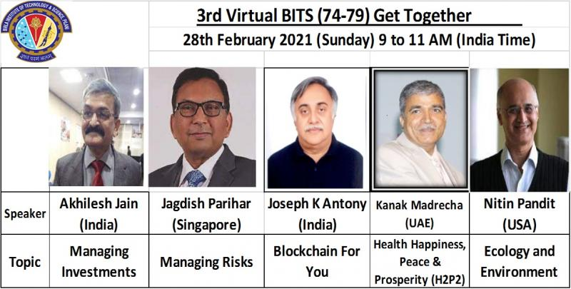 BITS Pilani 74-79 Alumni Global Reunion with a Virtual Conference Mixing Musings with Music