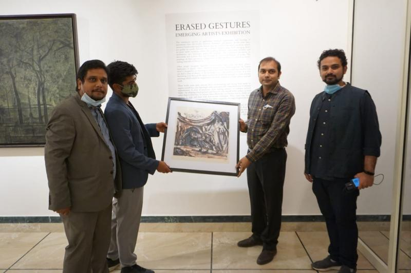 Dr. Sanchit Tyagi, Joint Director - National Book Trust at inauguration of Atal Museum Art Exhibition