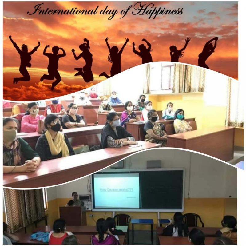 JMA Pilani Celebrates International Day of Happiness with a Talk on COVID Vaccine