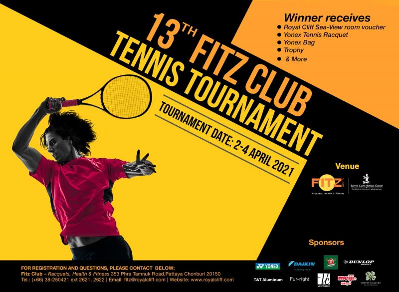 Fitz Club's Highly-Anticipated Annual Tennis Championship Returns on 2-4 April 2021