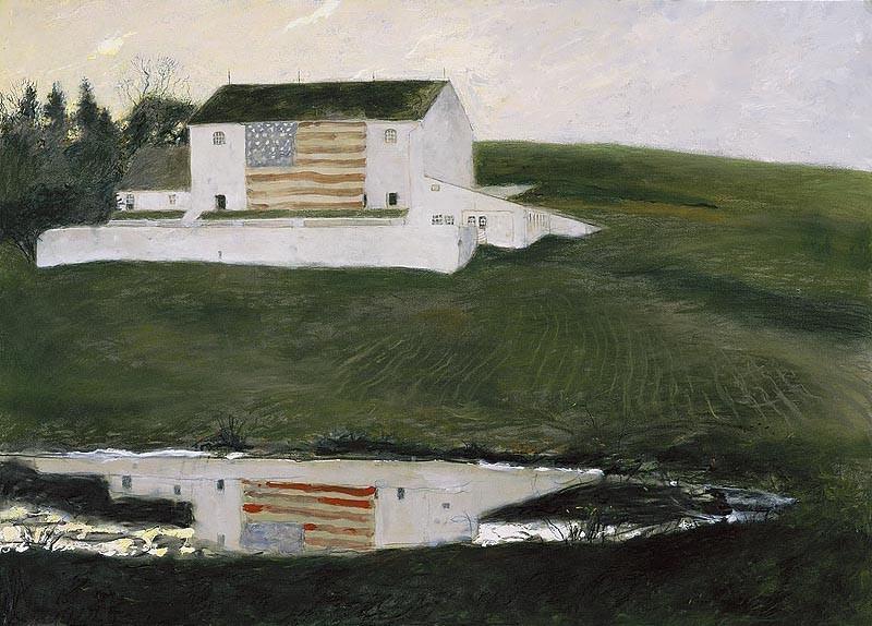 Image Credit: Patriot's Barn. 2001. Copyright James Browning Wyeth.