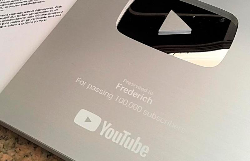 Youtube award given to Frederich.