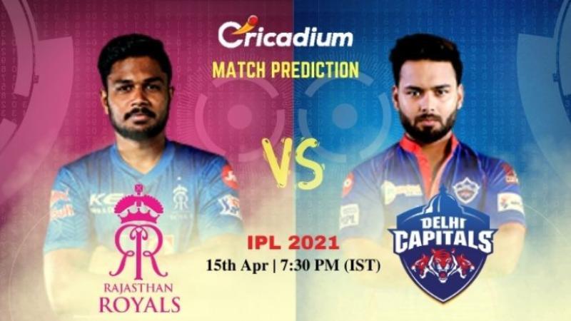 IPL RR vs DC Today Match Prediction 15th Apr 2021