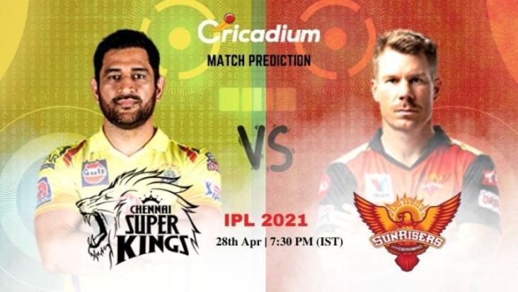 CSK vs SRH Today Match Prediction 28-Apr-2021