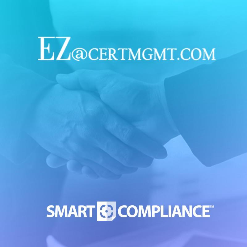 SmartCompliance Integrates with EZ CERT Management