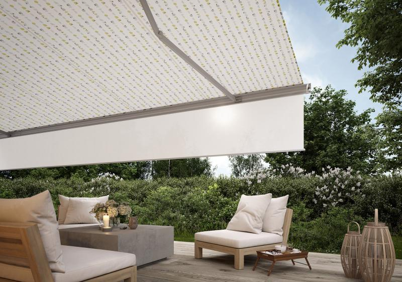 markilux goes into the market with new, strong and trendy awning fabric patterns.