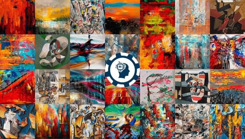 All the paintings presented here are created by artificial intelligence.