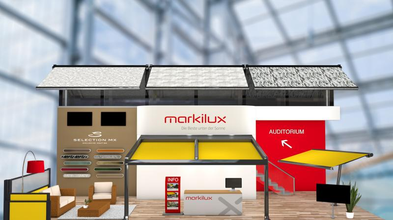 Taking part in the 'R+T digital' in February 2021 was a success for markilux. There was substantial interest in the products.