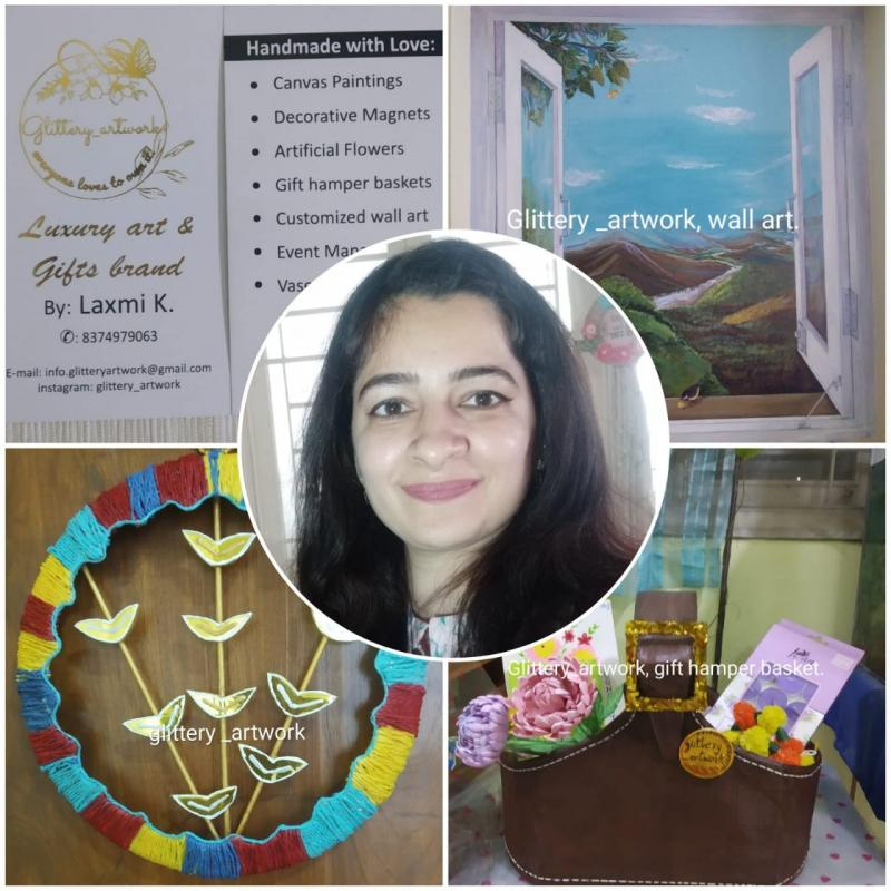 Glittery Artwork a Mission with Passion by Laxmi Kale Breaks all Barriers