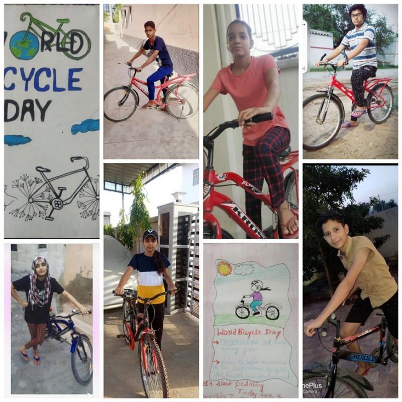 Shekhawati Rajasthan Pilani Lead School JMA Celebrates UN World Bicycle Day