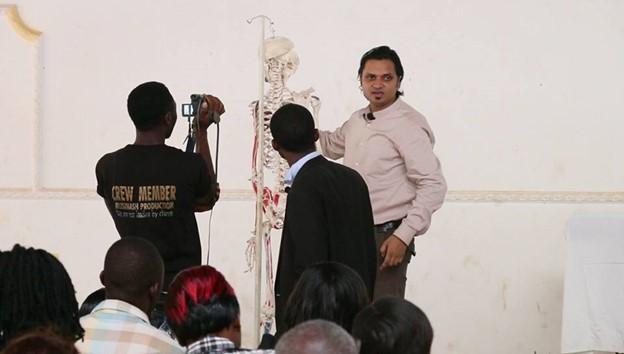 Prof. Krishna N. Sharma teaching Pain Management