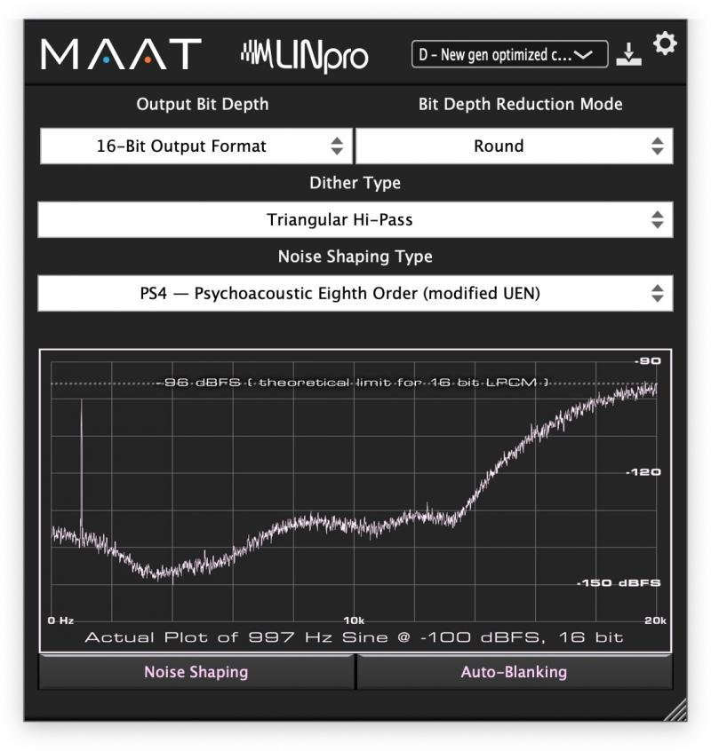 LINpro high res dithering plug-in from MAAT