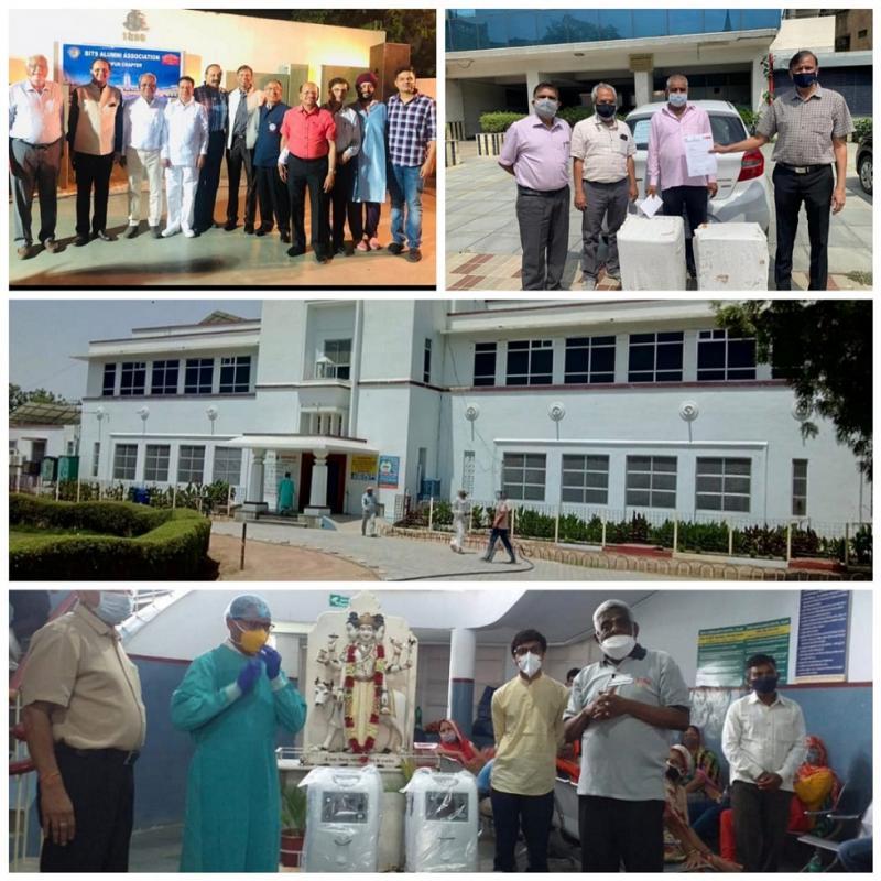 BITS Pilani Alumni Association BITSAA Jaipur Gifts Oxygen Concentrators to Birla Sarvajanik Hospital