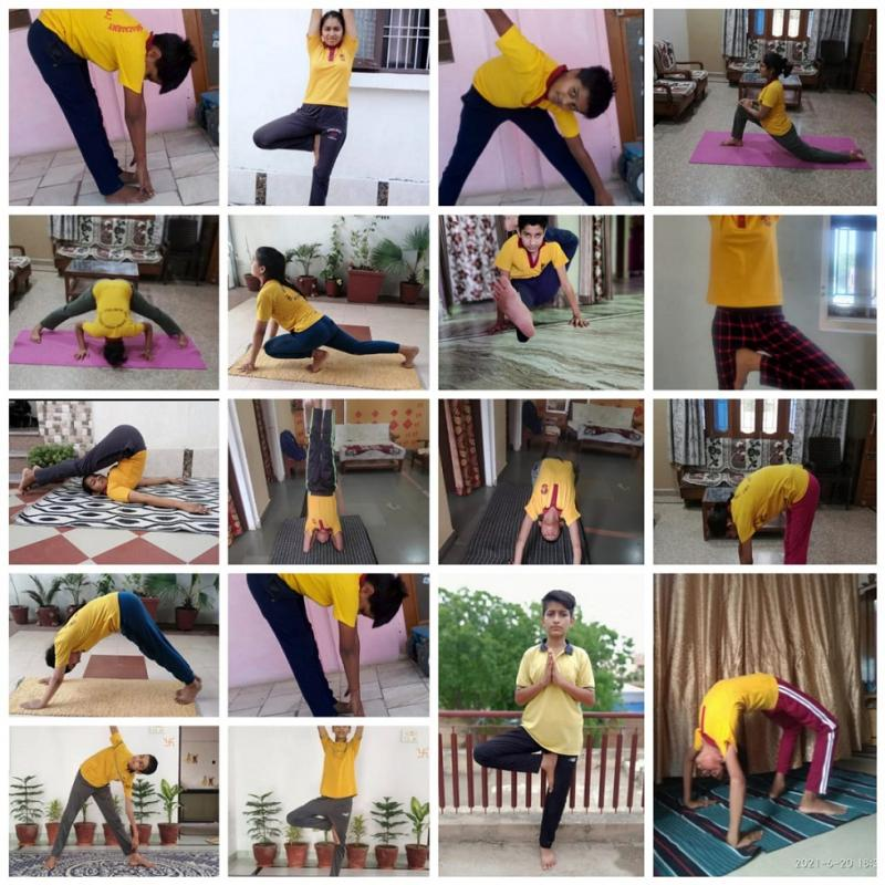 Top Ranking Pilani School JMA Celebrates International Yoga Day 2021