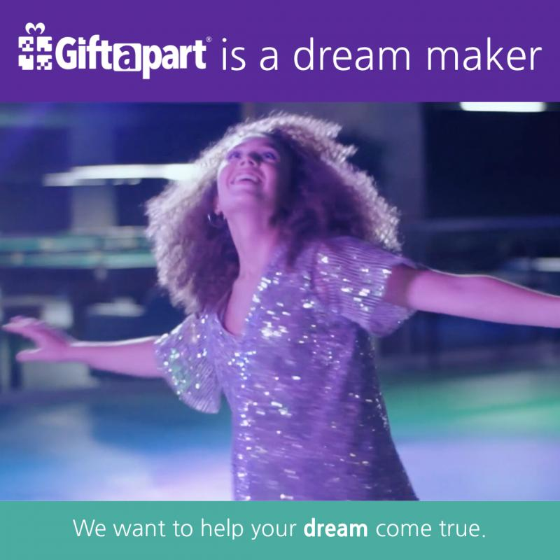 Giftapart is a dream maker and wants to help your dream come true by helping you get your dream gift.