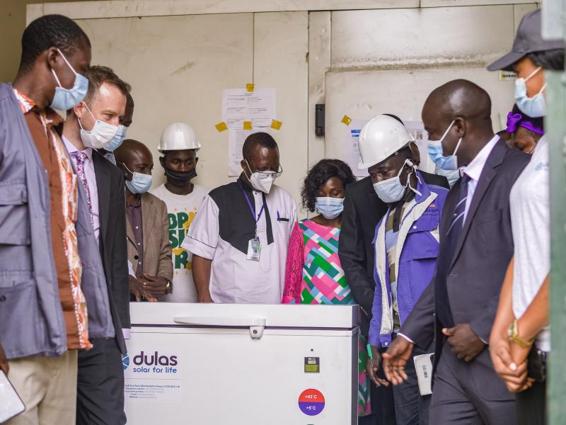 Two Dulas vaccine refrigerators were donated at a ceremony in Yaounde, Cameroon