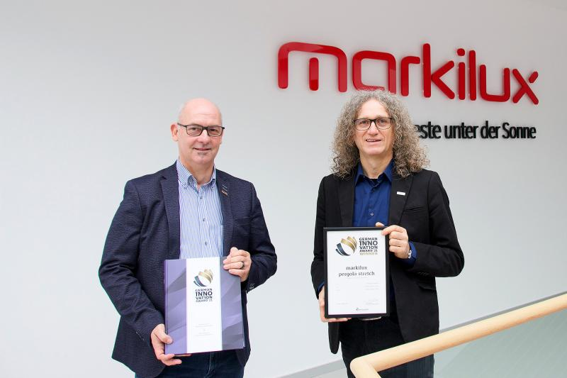 The 'pergola stretch' by markilux was presented with the 'German Innovation Award' 2021.