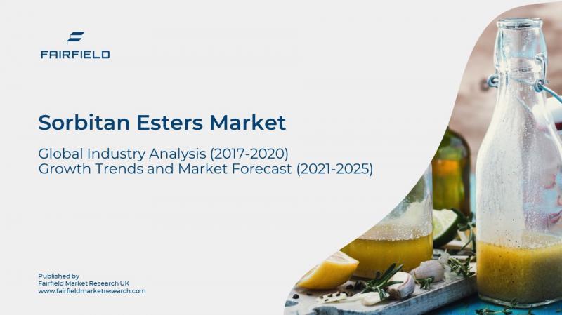 Global Sorbitan Esters Market to Generate US$1721.5 Million,