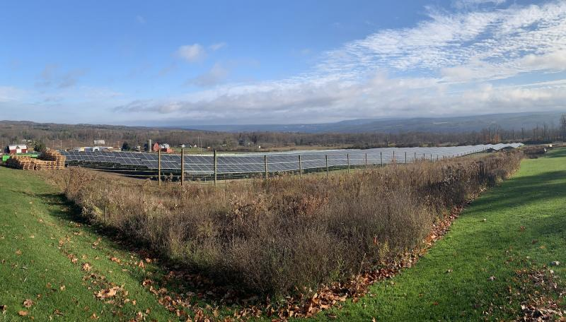 John Mills Electric Large Solar Project in Newfield, NY.