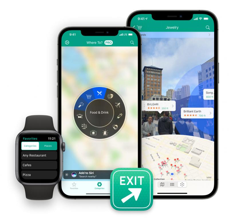 Where To? for iPhone and Apple Watch, now with AR