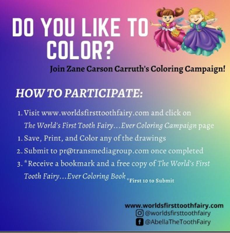 Coloring With Abella, The World's First Tooth Fairy…Ever