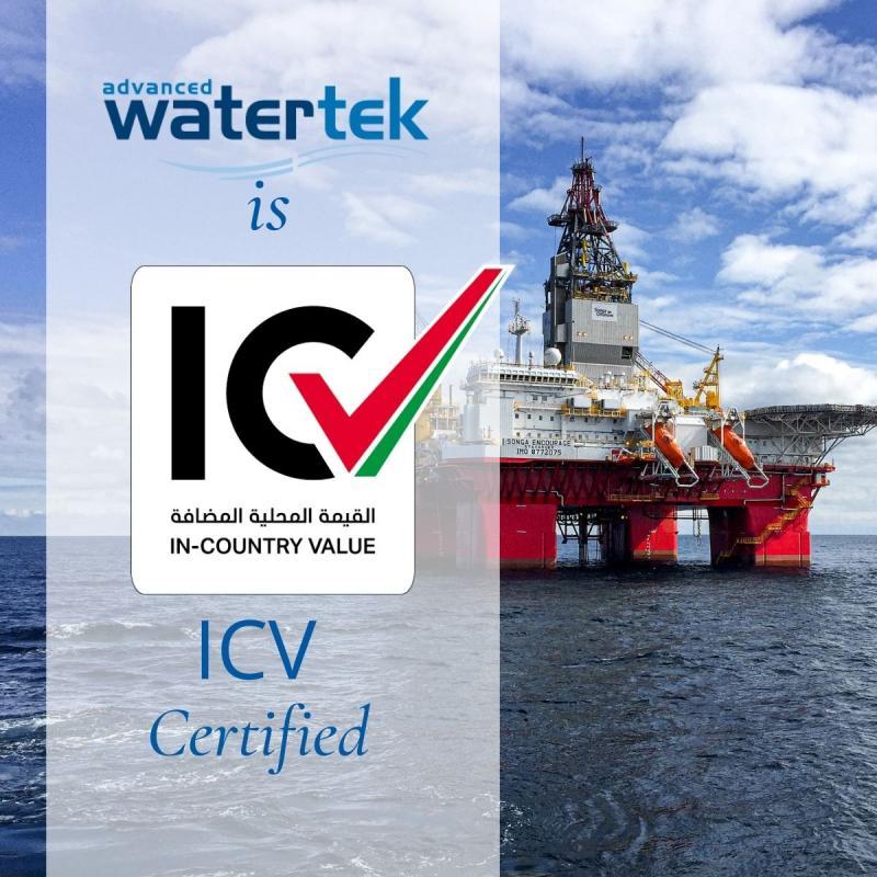 Advanced Watertek gets ICV Certification