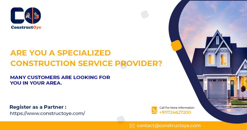 Marketplace for the Construction Service Provider, India