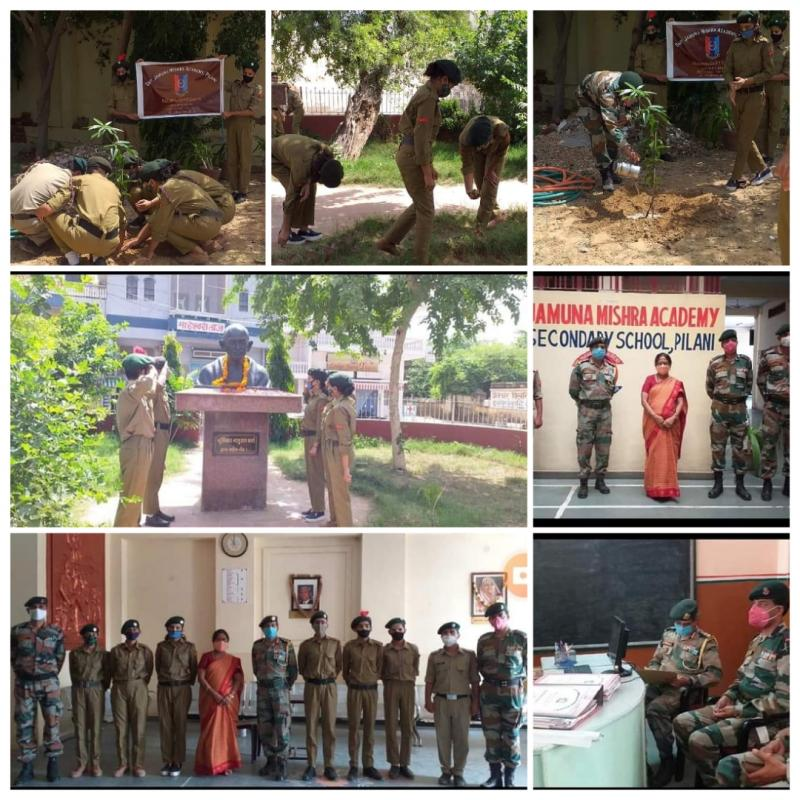 NCC Officer Col Rajeev Singh Visits Lead School JMA Pilani