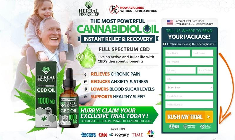 Herbal Pro Relief CBD Oil Reviews, Is HPR 1000mg CBD Oil Really