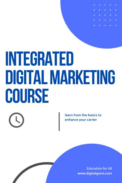Integrated Digital Marketing Course Launch