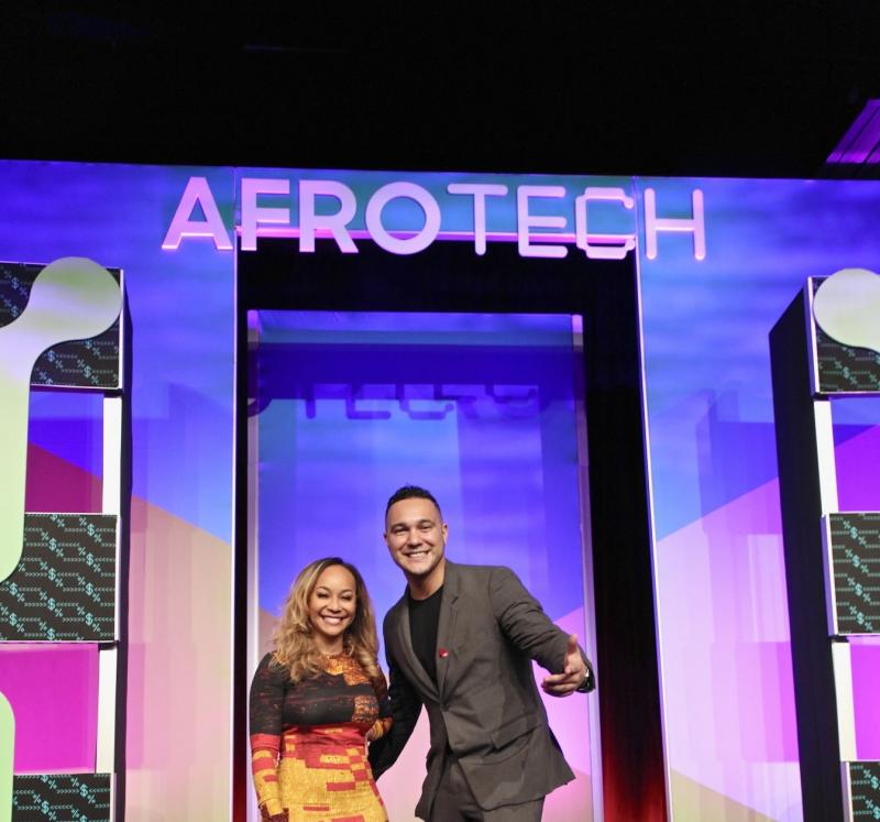 Sign for Afrotech trade show